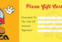 Pizza Gift Certificate Template 5