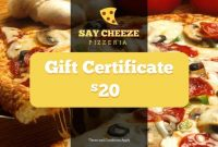 Pizza Gift Certificate Template 6