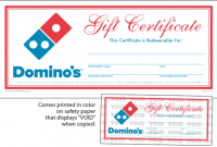 Pizza Gift Certificate Template 8