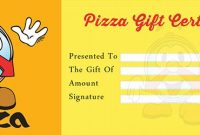 Pizza Gift Certificate Template 9