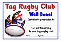 Player Of the Day Certificate Template 12