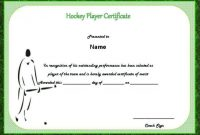 Player Of the Day Certificate Template 7