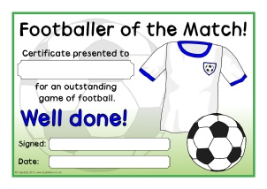 Player Of The Day Certificate Template 8