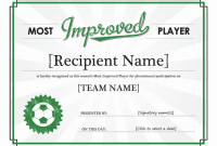 Player Of the Day Certificate Template 9