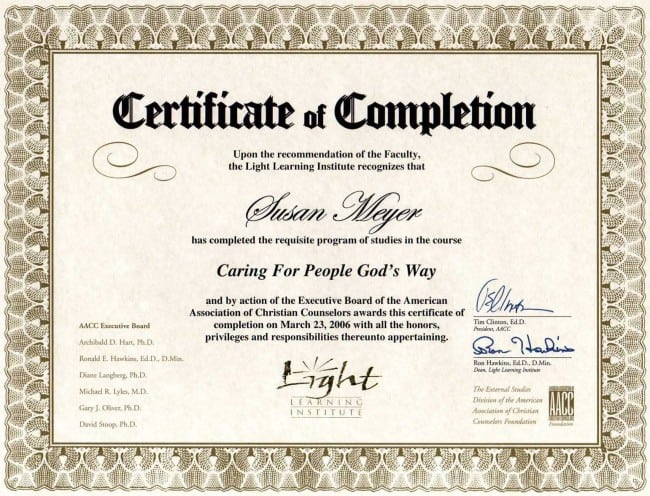 Premarital Counseling Certificate Of Completion Template 5