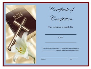 Premarital Counseling Certificate Of Completion Template 7