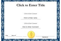 Printable Certificate Of Recognition Templates Free 0