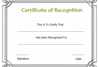 Printable Certificate Of Recognition Templates Free 1