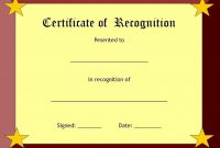 Printable Certificate Of Recognition Templates Free 11
