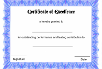 Printable Certificate Of Recognition Templates Free 8