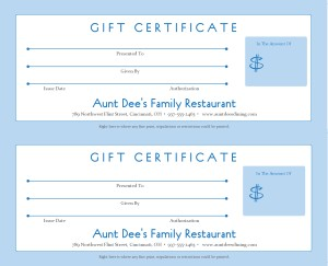 Restaurant Gift Certificate Template 10