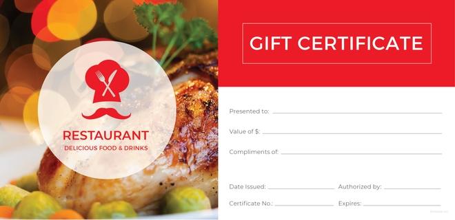 Restaurant Gift Certificate Template 11