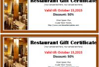 Restaurant Gift Certificate Template 3