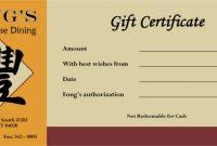 Restaurant Gift Certificate Template 4