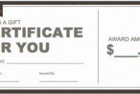 Restaurant Gift Certificate Template 5