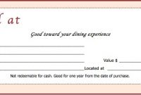 Restaurant Gift Certificate Template 8