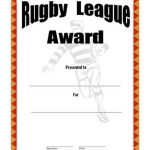 Rugby League Certificate Templates