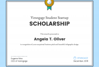 Scholarship Certificate Template 0