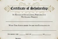 Scholarship Certificate Template 1