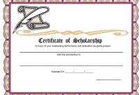 Scholarship Certificate Template 11