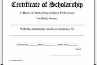 Scholarship Certificate Template 2