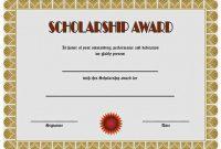 Scholarship Certificate Template 3