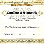 Scholarship Certificate Template