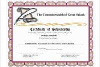 Scholarship Certificate Template 6