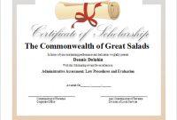 Scholarship Certificate Template 7