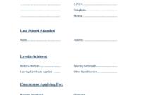 School Leaving Certificate Template 6