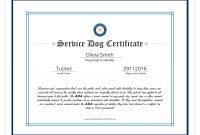 Service Dog Certificate Template 3