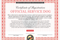 Service Dog Certificate Template 8