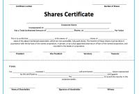 Share Certificate Template Australia 3