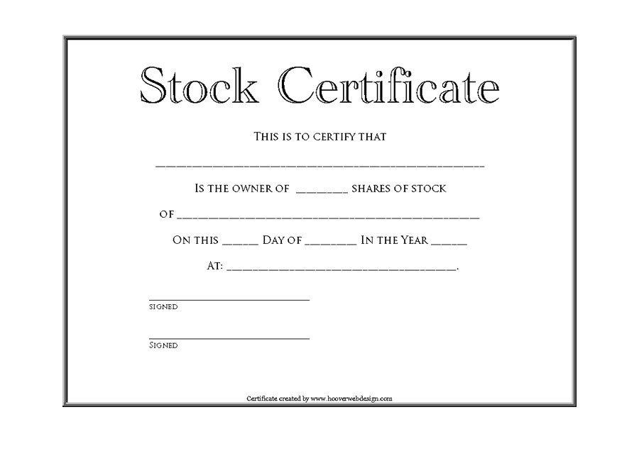 Share Certificate Template Australia 8