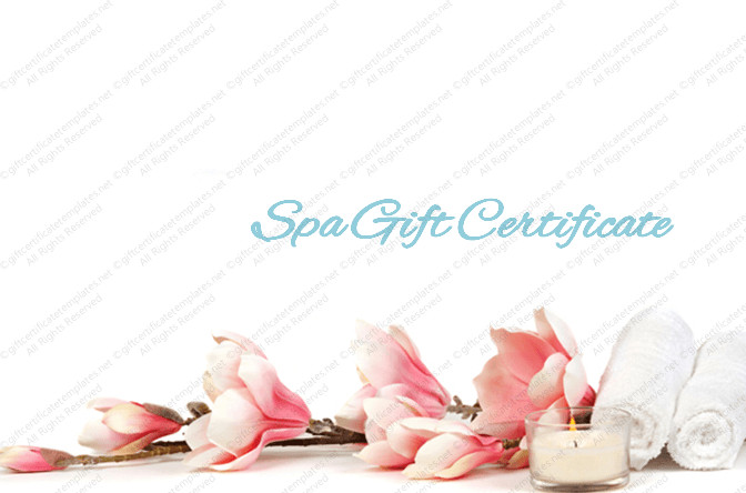 Spa Day Gift Certificate Template 12