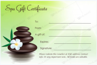 Spa Day Gift Certificate Template 8