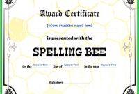Spelling Bee Award Certificate Template 4
