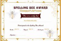 Spelling Bee Award Certificate Template 8