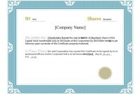 Stock Certificate Template Word 5