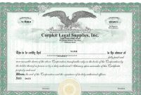 Stock Certificate Template Word 6