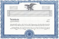 Stock Certificate Template Word 8