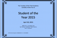 Student Of the Year Award Certificate Templates 0