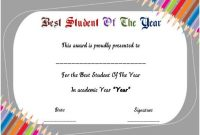 Student Of the Year Award Certificate Templates 4