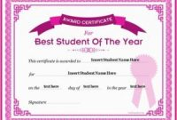 Student Of the Year Award Certificate Templates 9