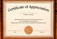 Template for Certificate Of Appreciation In Microsoft Word12