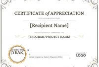 Template for Certificate Of Appreciation In Microsoft Word8