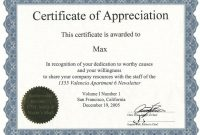 Template for Certificate Of Appreciation In Microsoft Word9