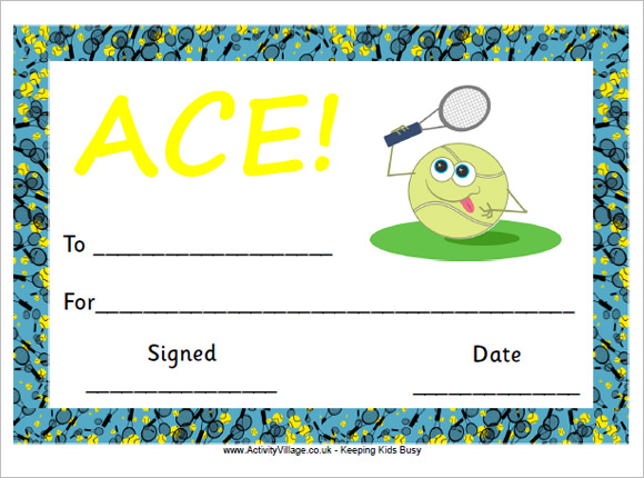 Tennis Gift Certificate Template4