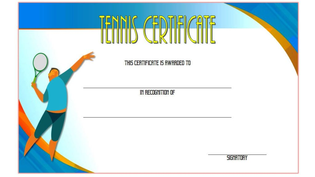 Tennis Gift Certificate Template7