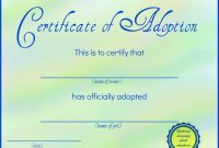 Toy Adoption Certificate Template 0